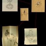 Bonus hidden drawings with main piece