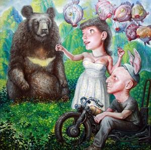http://thinkspacegallery.com/2010/01/show/Scott-G.-Brooks---Love-In-Danger---24x24---oil-on-canvas.jpg