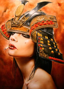 http://thinkspacegallery.com/2012/12/scope/show1/THE-LAST-SAMURAI-18-x-24-Viveros-oil_mixed-media-on-maple.jpg