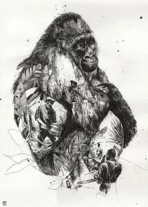 http://thinkspacegallery.com/2012/05/show/gorilla_simonprades.jpg