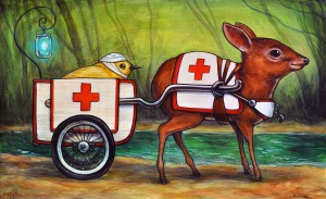 http://thinkspacegallery.com/2014/10/show/kellyvivanco_royal_antelope_ambulance_service-1000.jpg