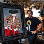 Viveros with 'There Will Be Blood' (in custom frame)