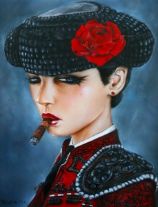 http://thinkspacegallery.com/2012/01/aaf/show/BULL-FIGHT-HER-III-(tres)-2011.jpg