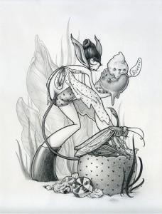 http://thinkspacegallery.com/2008/drawingroom/show/Brandi-Milne-grasshopperpuke.jpg