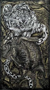 http://thinkspacegallery.com/2009/01/show/Dennis-McNett-snow-leopard-and-goat.jpg