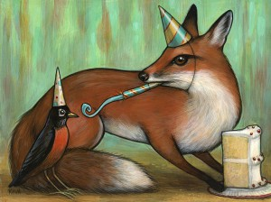 http://thinkspacegallery.com/2013/10/wildatheart/show/Kelly-Vivanco_Robin-and-Fox-1200.jpg