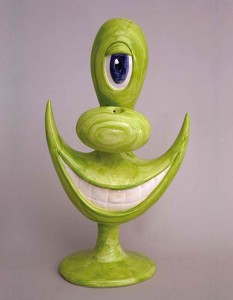 http://thinkspacegallery.com/2013/10/birdseyeview/show/Kenny-Scharf-Object-To-Enjoy-green.jpg