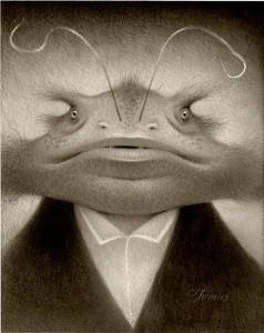 http://thinkspacegallery.com/2010/01/show/Travis-Louie---Lester-The-Mystery-Amphibian.jpg