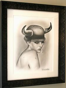 http://thinkspacegallery.com/2014/01/laartshow/show/Viveros_BULLETPROOF-custom-framed.jpg