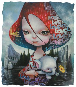 http://thinkspacegallery.com/2013/10/wildatheart/show/YosukeUeno_Lady-with-the-elephant-53x45.5cm.jpg