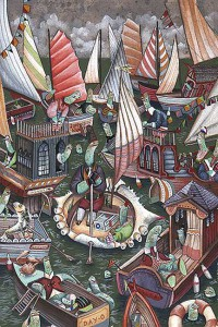 http://thinkspacegallery.com/2008/project/waterways/show/crowded-waters-(the-crabshell-boat).jpg