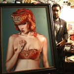 Viveros with 'The Main Event' (in custom frame)